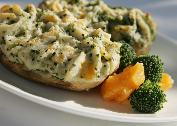 Broccoli & Cheese Stuffed Baked Potatoes