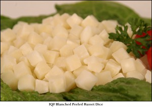 IQF Blanched Peeled Russet Dice