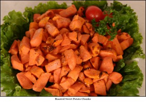 Roasted Sweet Potato Chunks